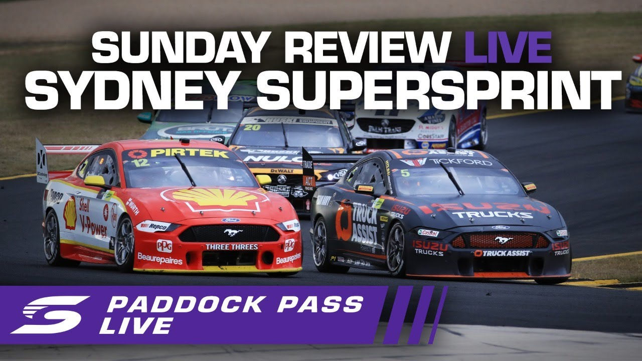 Sunday Review Paddock Pass LIVE - Sydney SuperSprint | Supercars 2020