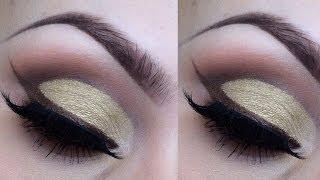 Gold round cut crease eyeshadow tutorial Thumbnail