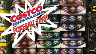 Pokemon Cards at COSTCO?! BRAND NEW Pokeball Tin 3-packs!