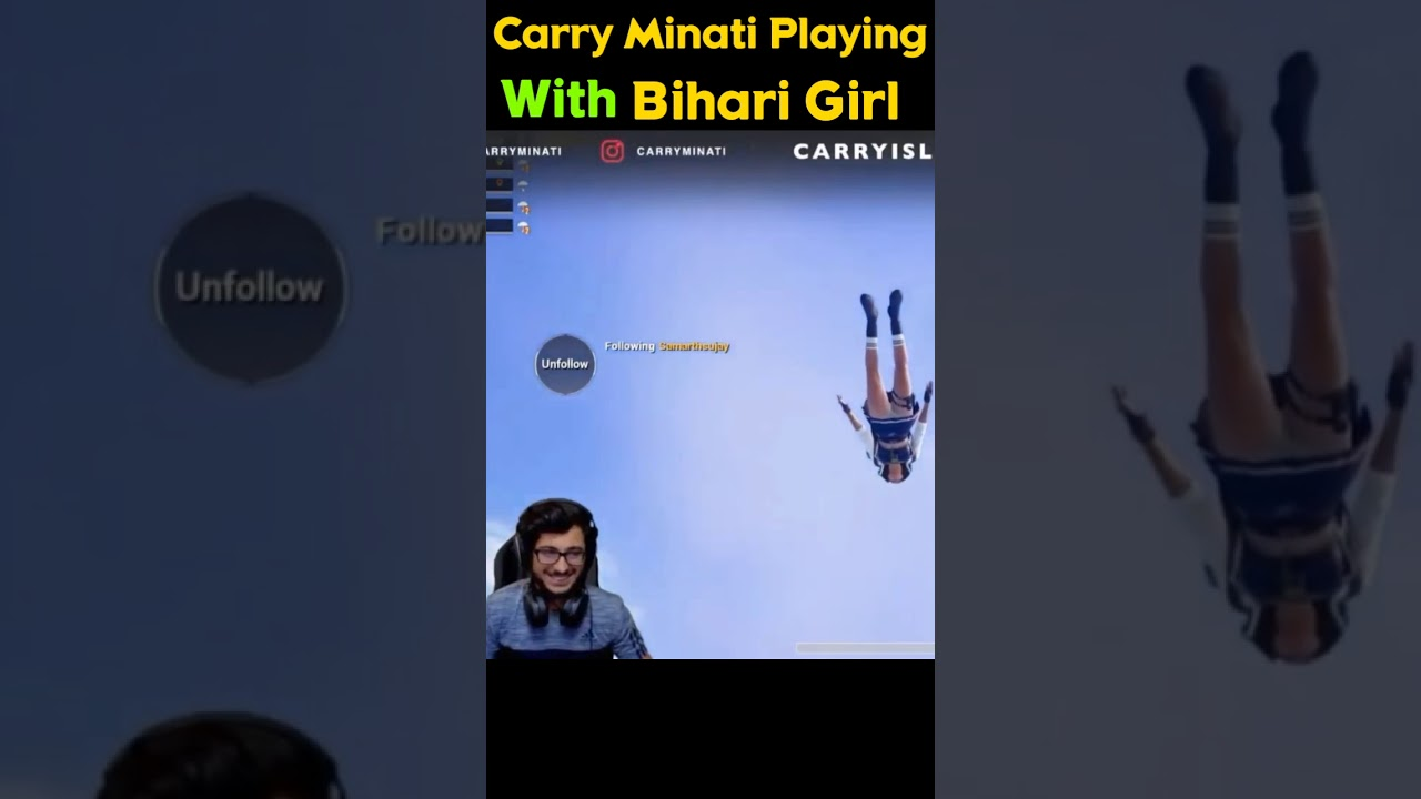 Carry Minati Playing With Bihari Girl ?? | #Shorts #Carryminati #youtubeshorts #pubg