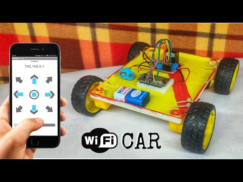 How To Make A Wi-Fi Car Using NodeMCU esp8266 | Mobile Phone Controlled Car | FULLY EXPLAINED
