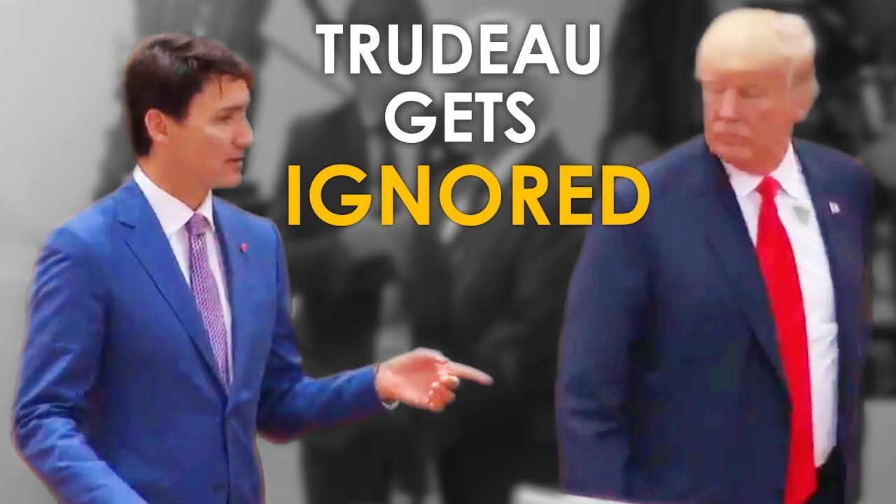 Image result for trump walks away from trudeau