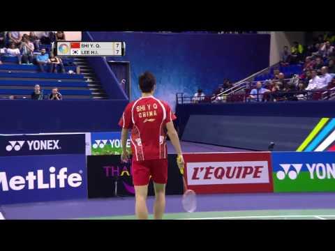 Yonex French Open 2016   Badminton F M5-MS   Shi Yuqi vs Lee Hyun Il