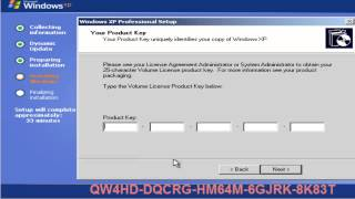 How to install Win XP in Urdu