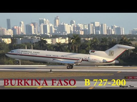 Burkina Faso Government 727-200 Takeoff at Ft. Lauderdale Intl