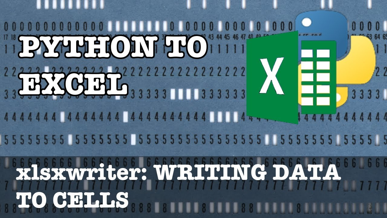 Writing data to Excel cells in xlsxwriter