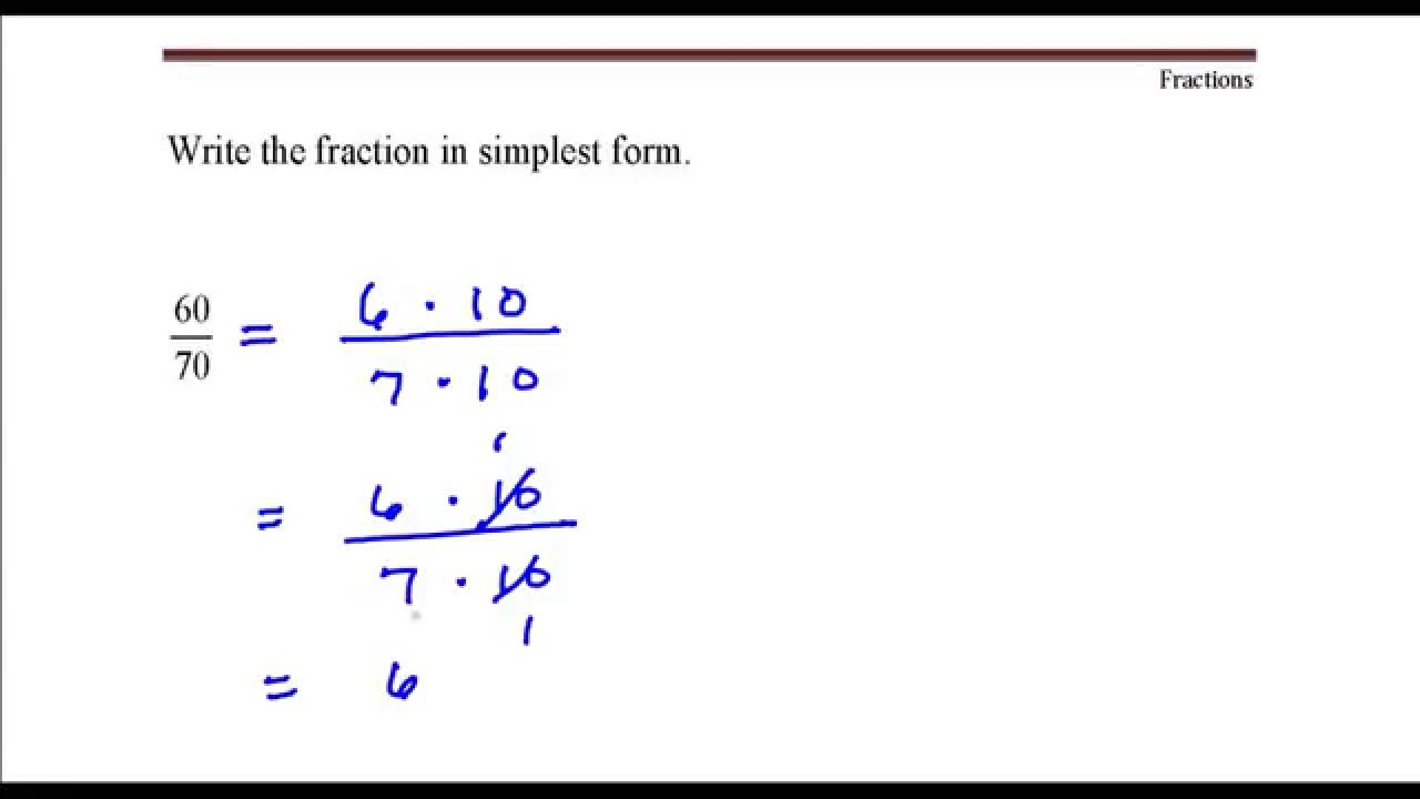 Write the fraction in simplest form. 11 divided by 11 - Youtube