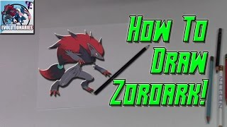 How To Draw Zoroark! | Pokemon Zoroart With N