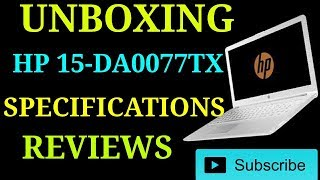 #HP 15-DA0077TX LAP SPECIFICATIONS AND REVIEW 2019|8GB RAM,INTEL i5,WINDOWS 10,1TB HDD|