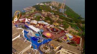 4K Drone Video - Ocean Park, Aberdeen, Hong Kong