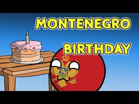 Montenegro birthday party - Countryballs