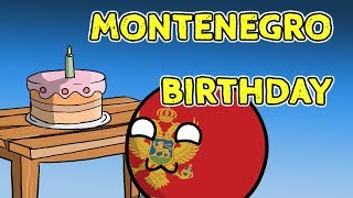 Montenegro birthday party - Countryballs