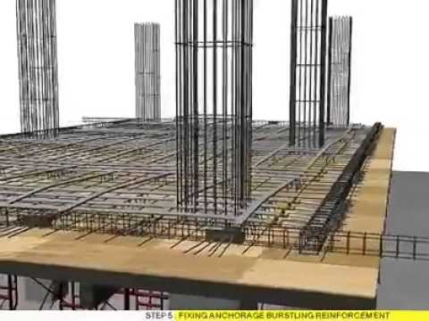 Flat slab tendon Post Tension system Must see