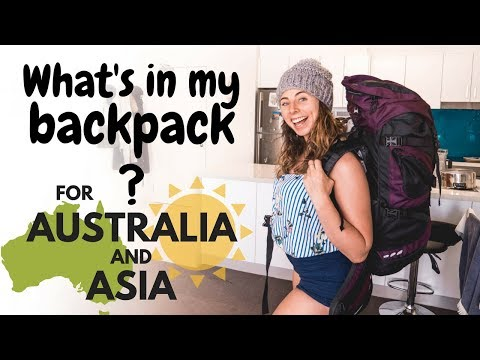 What's in my Backpack for Australia & Asia?