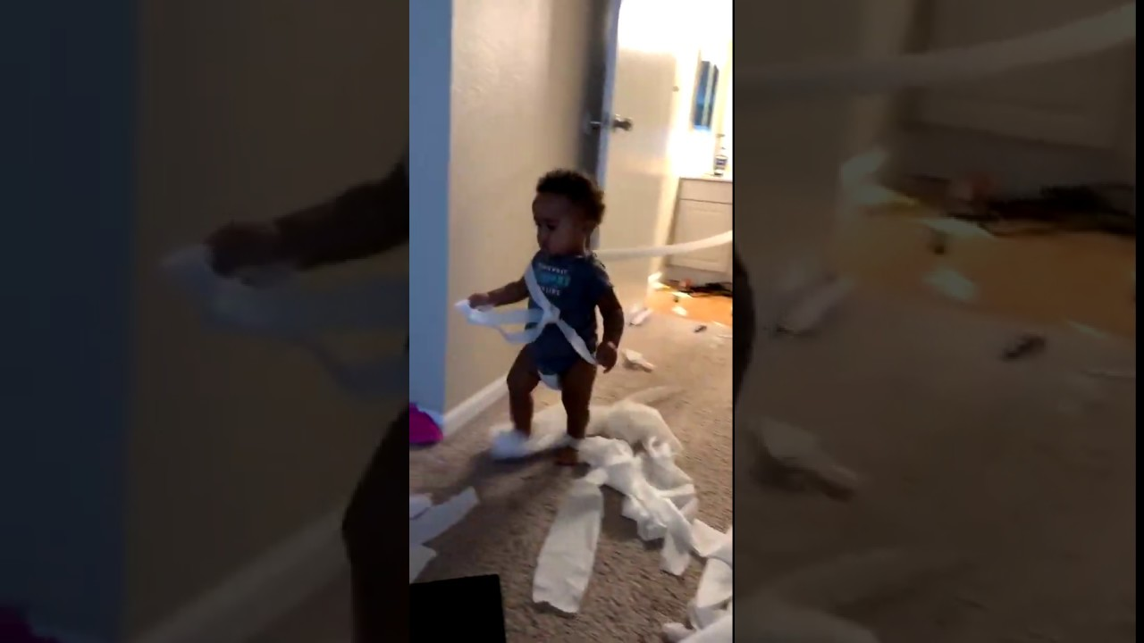 Kid Playing With Toilet Paper | #Shorts