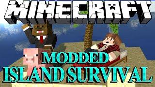 "Minecraft Survival Island Mods Ep. 9 ""HOW TO MAKE A GUN"" w/ BajanCanadian!"
