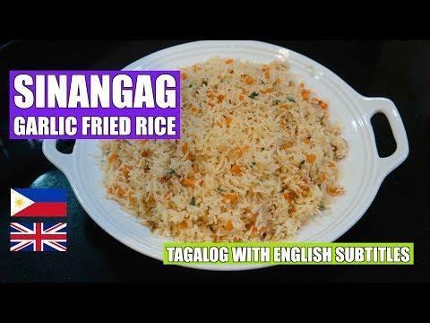 How to make Garlic Fried Rice - Sinangag - Filipino Rice - Veg Fried Rice - Easy fried rice - Vegan
