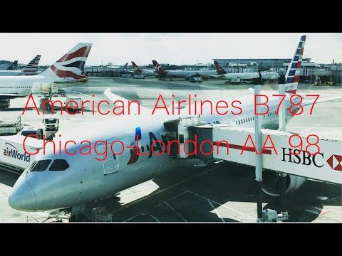 American Airlines AA98 Chicago - London B787 Economy