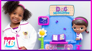 Doc Mcstuffins and the Story About Stuffed Animals | Kyraboo Pretend Play