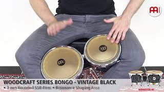 MEINL Percussion - MEINL Percussion - Woodcraft Series Wood Bongo, Vintage Black - WB400VBK-M