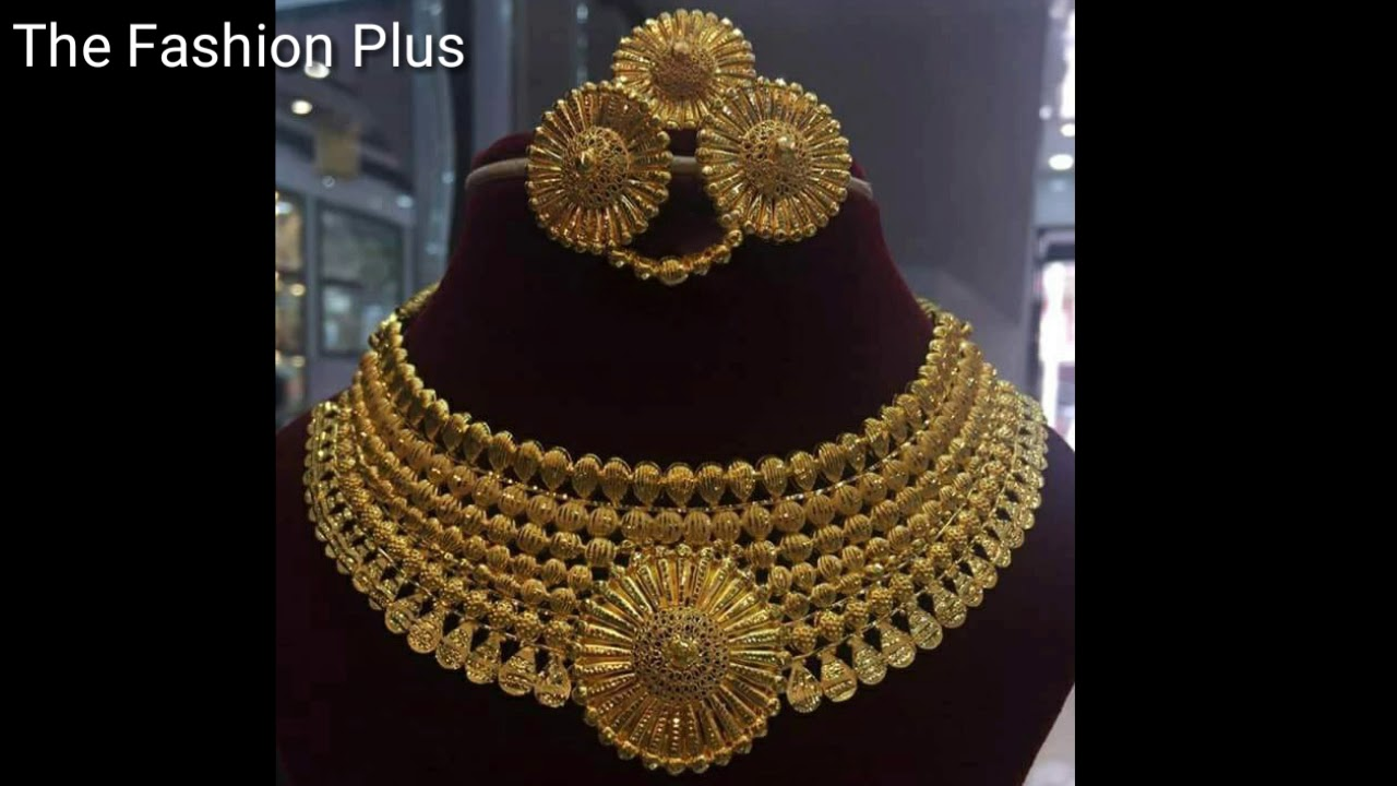 Gold BRIDAL Necklaces Sets Designs Under 3 Tola|40 Gram - YouTube