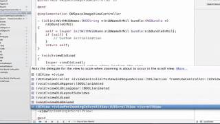 iOS Programming Tutorial - UIScrollView Delegate Demonstration in xCode - 07