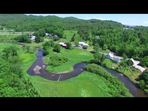 Aerial Drone Video of Barnet VT - Connecticut River - Green Mountain Drone