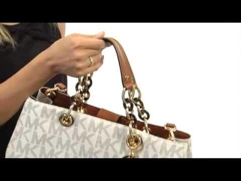 8d5ec3ac6230 MICHAEL Michael Kors Cynthia Large Satchel SKU  8195442 - YouTube