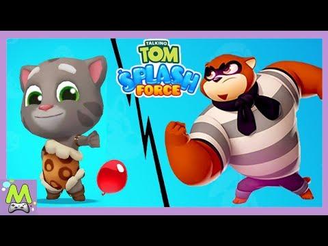 Говорящий Том Всплеск Силы/Talking Tom Splash Force.Кто Самый Лучший Метатель Бомбочек.МультИгра