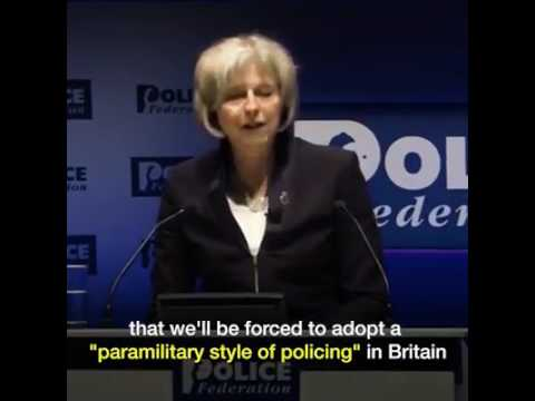 "Theresa May ""police are scaremongering"" about cuts"