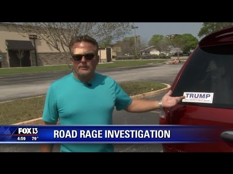 Man claims assault was prompted by Trump sticker