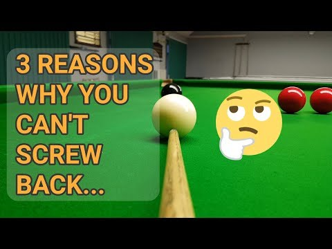3 Reasons Why You Can't Screw Back!