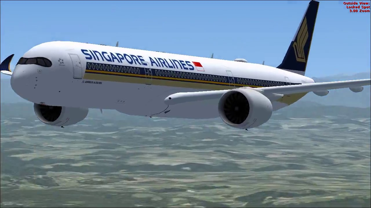 Singapore Airlines - Airbus A350-900 - FSX MOD (DOWNLOAD)