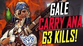 GALE CARRY ANA 63 KILLS HES INSANE  OVERWATCH SEASON 6 TOP 500