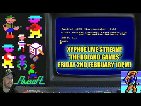 """[AMSTRAD CPC] """"The Roland Games"""" The Amstrad CPC Mascot! All Games! [Xyphoe Live Stream]"""