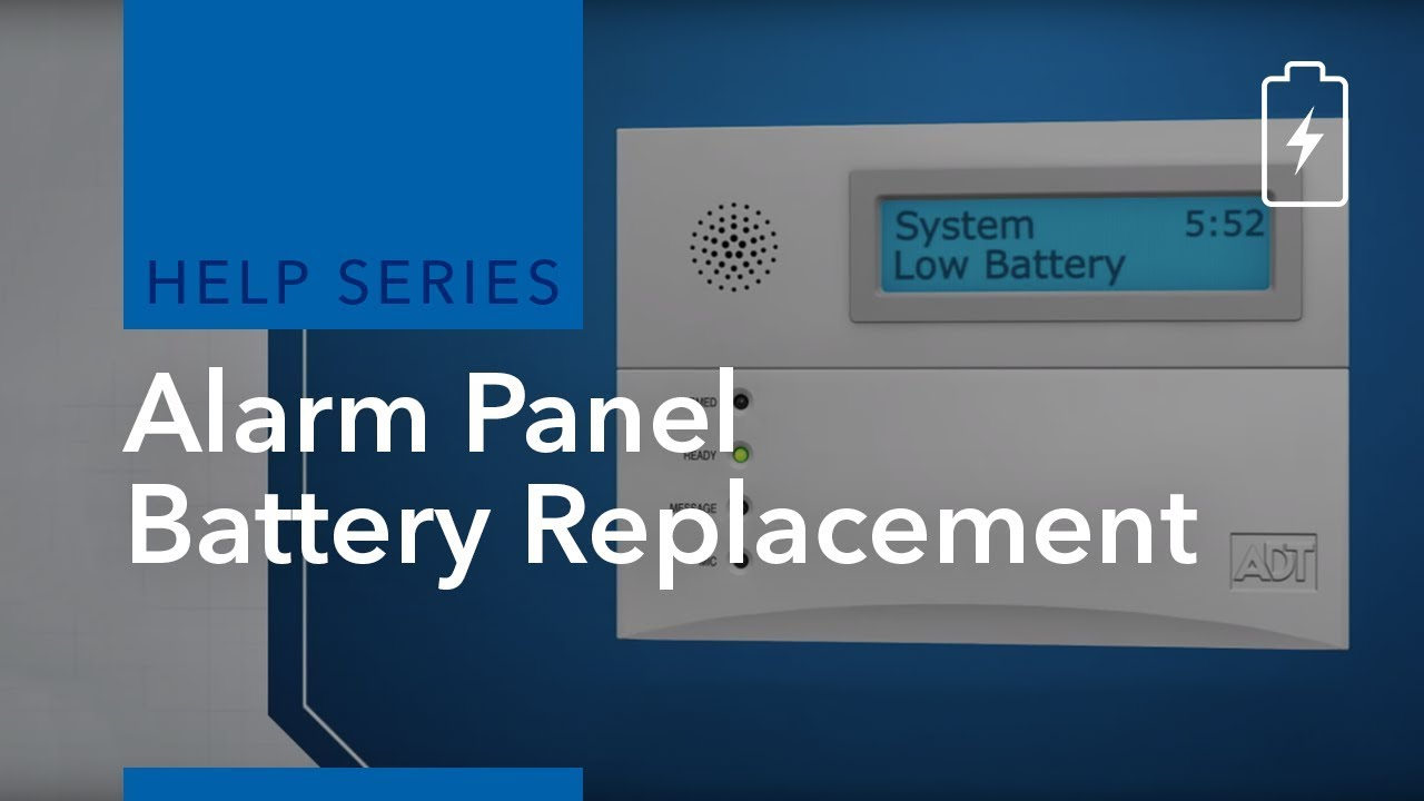 ADT Alarm Tips - How To Change Your Alarm System Battery