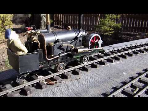Single cylinder pot boiler live steam locomotives