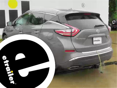 trailer wiring harness installation - 2015 nissan murano - etrailer com -  youtube
