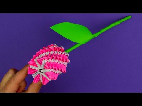 Модульное оригами цветок. [Из бумаги своими руками]