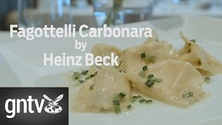 Heinz Beck makes his signature dish Fagottelli Carbonara - GN Guides