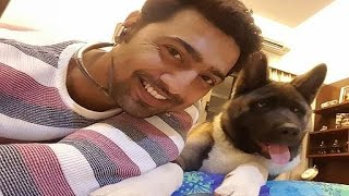 Bengali Actor DEV with his Pet Dog Lucky inside Dev