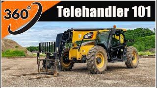 How to Drive a Forklift (360°) | Telehandler Forklift Operator Training
