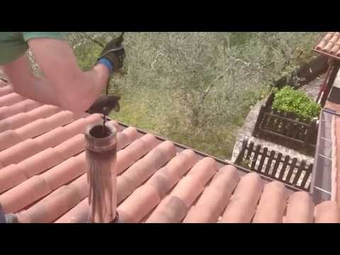Come pulire la canna fumaria di una stufa a pellet