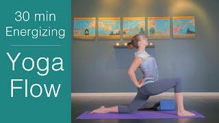 Video Vinyasa Yoga: 30 minute Energizing Yoga Flow download MP3, 3GP, MP4, WEBM, AVI, FLV Maret 2018