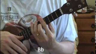 Good Night Ladies (ca. 1847) on ukulele -- chord solo demo