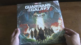 Unboxing Guardians Of The Galaxy Vol. 2: Awesome Mix Deluxe Edition Soundtrack - 2 LP Vinyl