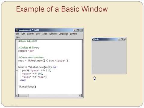 Learn about Graphical User Interface in Introduction to Ruby from GogoTraining