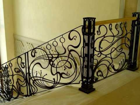 Кованые перила: ограждения на лестницу и балкон. Установка.