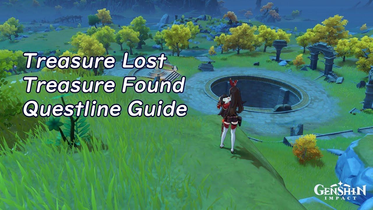 Genshin Impact Treasure Lost Treasure Found Questline Guide Youtube
