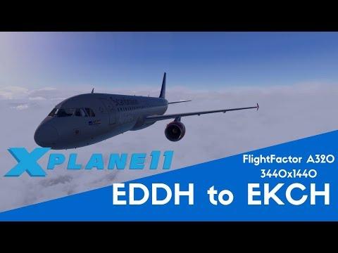 Hamburg to Copenhagen - FlightFactor A320 (X-Plane 11)